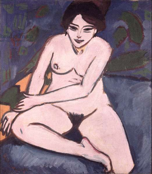 Model on Blue Ground, 1906 (oil on canvas)