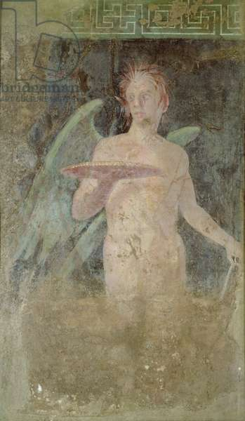 Winged Genius, from the Peristyle of the Villa of Publius Fannius Sinistor, late 1st century, Boscoreale, near Pompeii, (fresco)