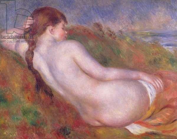 Reclining nude in a landscape