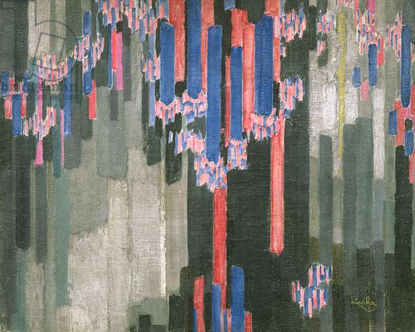 Arrangement of Vertical Lines, 1911-12 (oil on canvas)