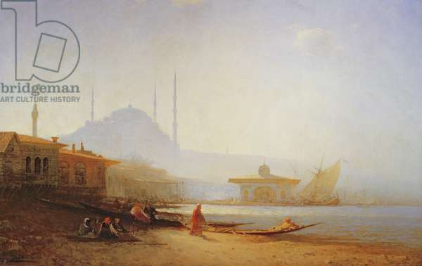 View of Istanbul, 1864 (oil on canvas)