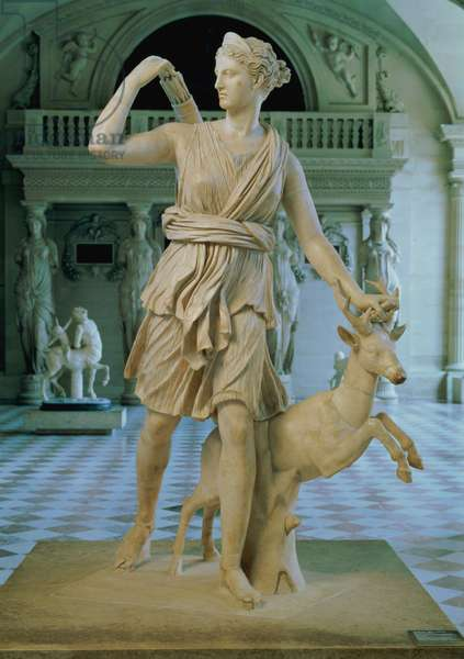 Artemis the Huntress, known as the 'Diana of Versailles', Roman copy of a 2nd century BC adaptation of a 4th century BC original attributed to Leochares (marble)