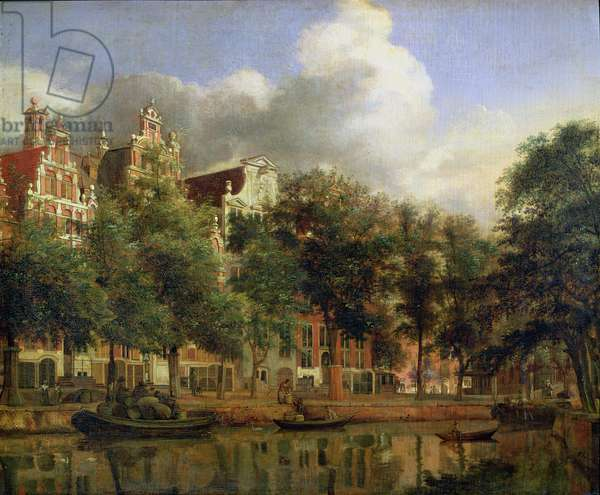 The Herengracht, Amsterdam (oil on panel)