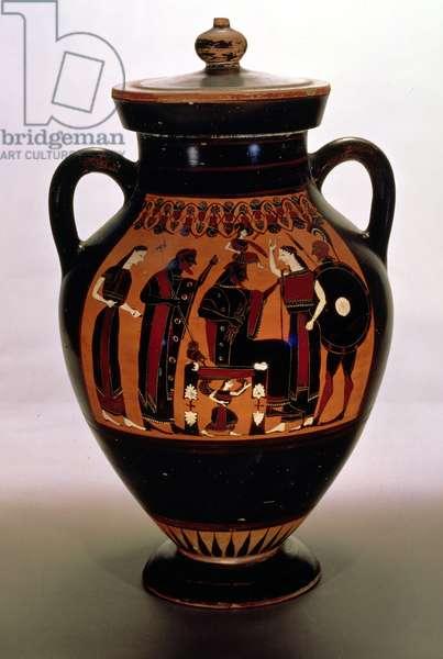 Attic black-figure amphora depicting the Birth of Athena (pottery)