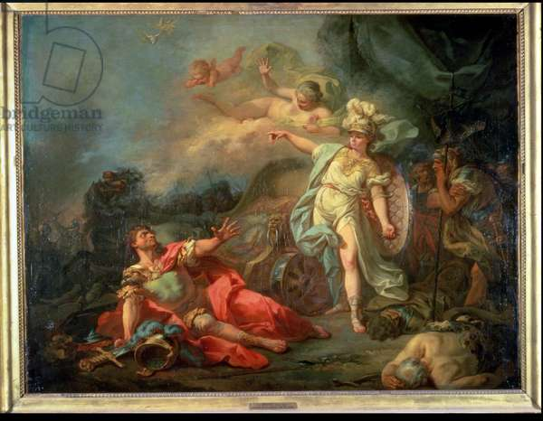 The fight between Mars and Minerva, 1771 (oil on canvas)