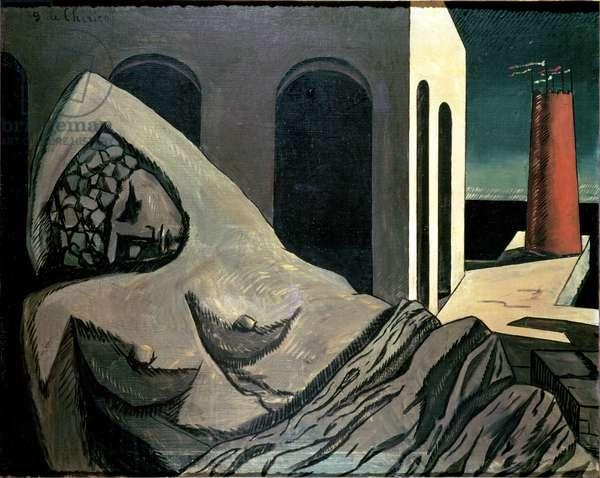 The Silent Statue, (Ariadne) 1913 (oil on canvas)