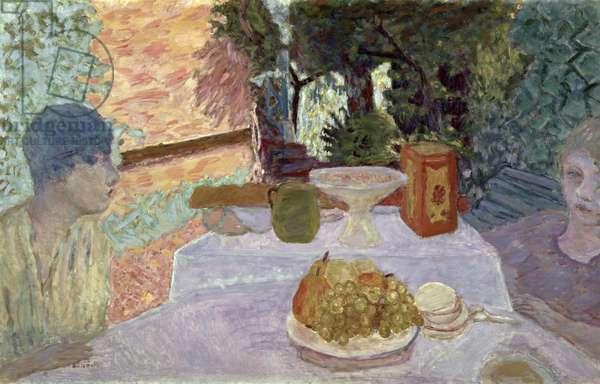 Breakfast (oil on canvas)