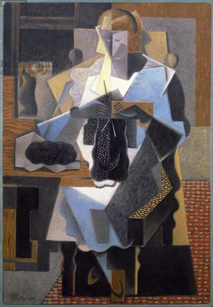 The Knitter, 1919 (oil on canvas)