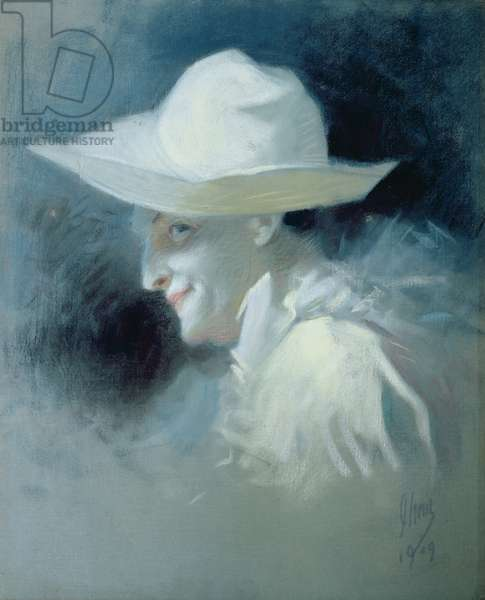 The Mime Artist Georges Wague as Pierrot, 1909 (oil on canvas)