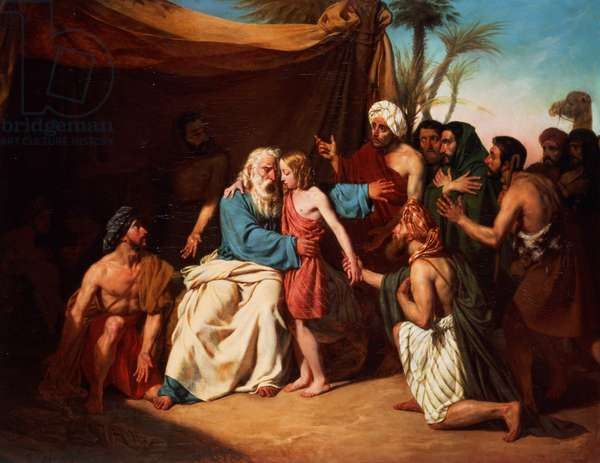 Jacob refusing to release Benjamin, 1829 (oil on canvas)