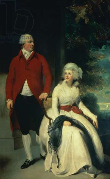 Portrait of John Julius Angerstein (1735-1823) and his second wife Eliza (1748/9-1800), c.1792 (oil on canvas)