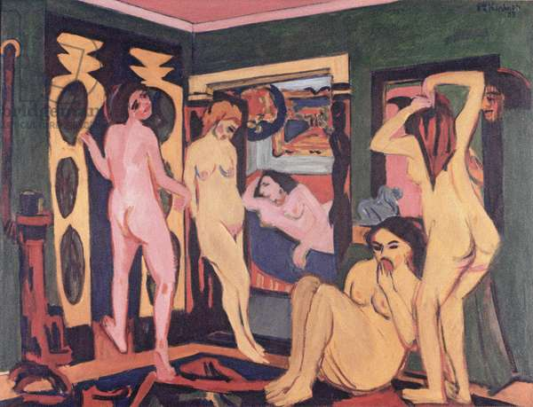 Bathers in a Room, 1908 (oil on canvas)