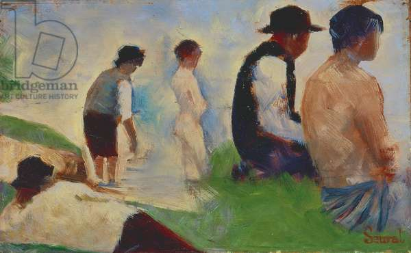 Study for 'Bathers at Asnieres', 1883-4 (see also 2136)