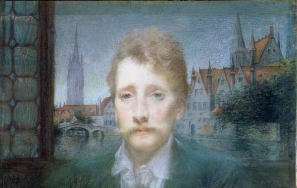 Portrait of Georges Rodenbach, 1890 (pastel on paper)