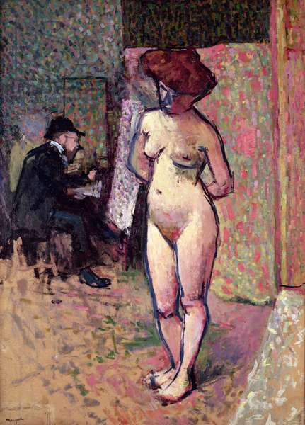Matisse Painting in the Studio of Manguin, 1904-05 (oil on canvas)