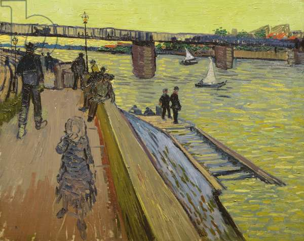 Le Pont de Trinquetaille in Arles, 1888 (oil on canvas)
