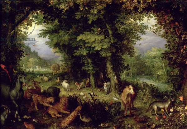 Earth or The Earthly Paradise, 1607-08 (oil on copper)