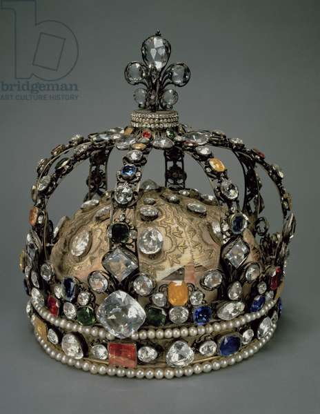 The Crown of Louis XV, 1722 (gilded silver, replacement stones & pearls)