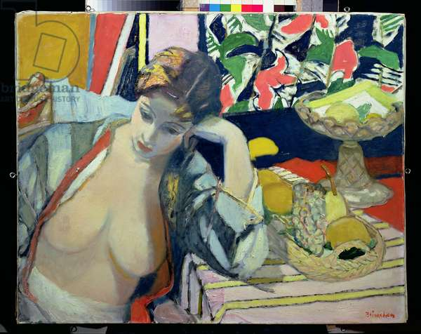 Model with Bare Breasts, 1954 (oil on canvas)