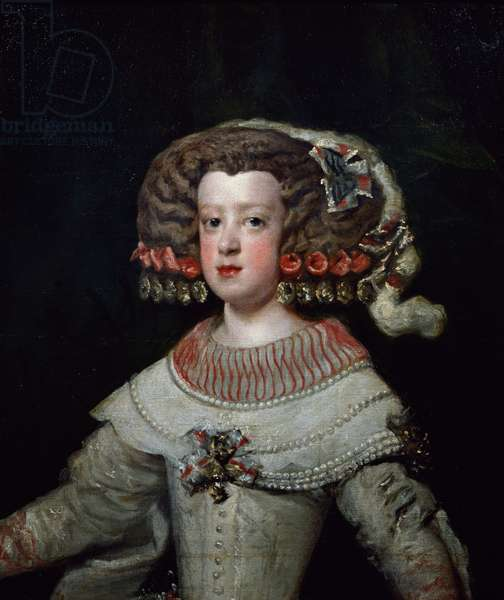 Portrait of the Infanta Maria Teresa, future Queen Marie-Therese of France (oil on canvas)