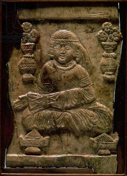 Abbasid Plaque, Iraq or Iran, 12th century (ivory)