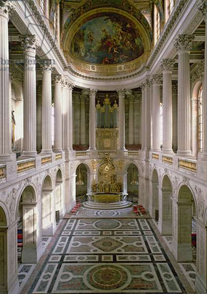 The Chapelle Royale (Royal Chapel) looking east, completed by Robert de Cotte (1656-1735) begun 1699 to plans prepared in 1689, dedicated 1710 (photo)