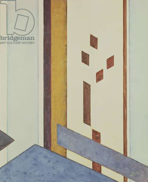 Vertical and Diagonal Planes, No. I, 1955 (oil on canvas)