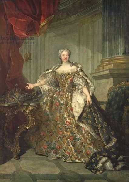 Portrait of Marie Leczinska (1703-68) (oil on canvas)
