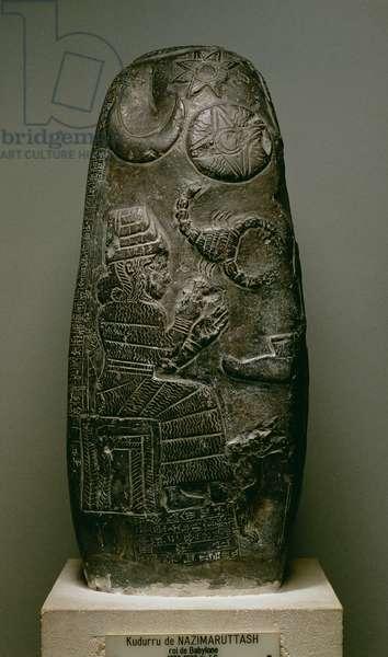 Kudurru of Nazimaruttash, King of Babylon, c.1328-1296 BC (stone)