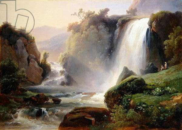 The Falls of Tivoli, c.1822-25 (oil on canvas)