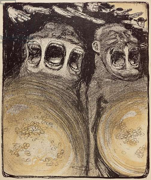 Voters with Three Voices and Two Voices , from 'L'Assiette au Beurre' (litho)