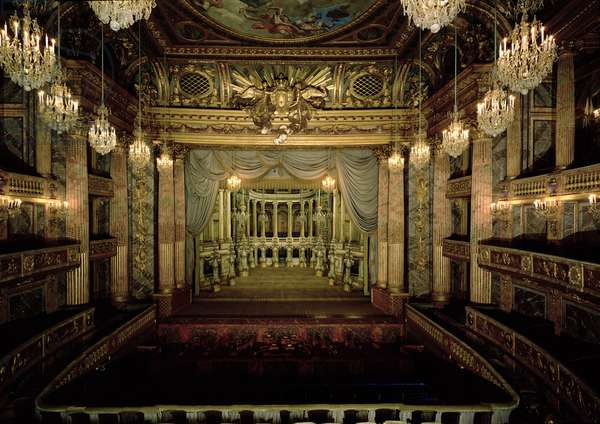 Interior of the Opera House, completed in 1770 (restored 1952-71) (photo)