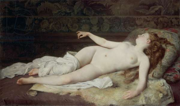 Sleep, 1873 (oil on canvas)