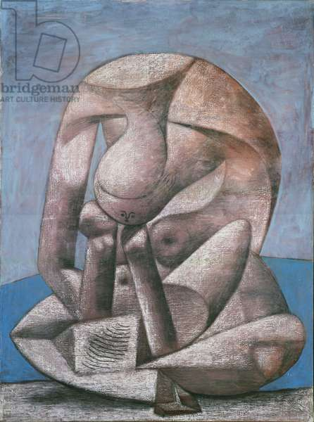 Large Bather with a Book, 1937 (charcoal, pastel and oil on paper)