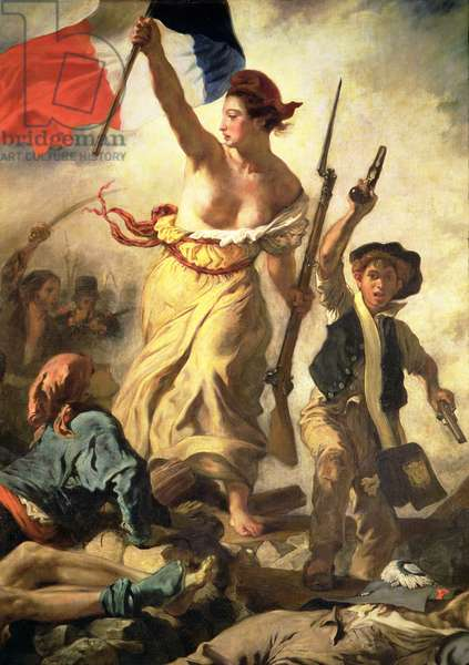 Liberty Leading the People, 28 July 1830, c.1830-31 (oil on canvas) (detail of 3692)