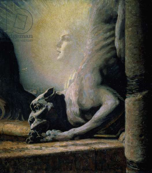The Sphinx and the Chimera, 1906 (oil on canvas)
