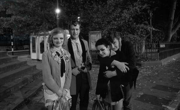 Punks, Oxford, UK, 1977  (b/w photo)