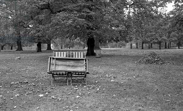 Hyde Park, London, UK, 1978  (b/w photo)