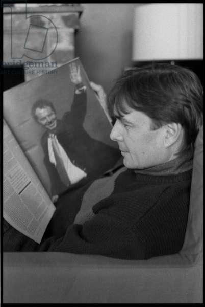 Andy Harries and Tony Blair, 1997 (b/w photo)