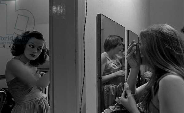 Susan Kyd, Edinburgh Festival, Scotland, UK, 1977  (b/w photo)