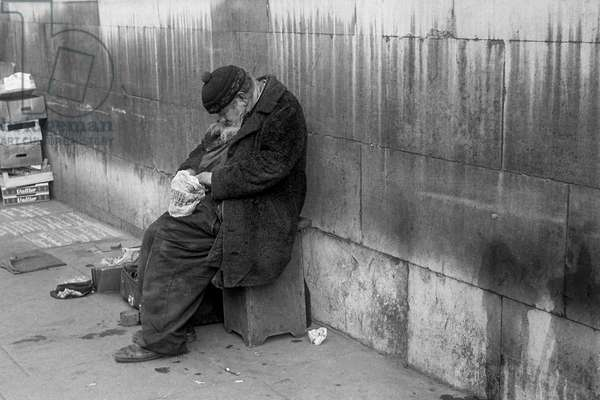 Tramp, London, UK, 1978  (b/w photo)