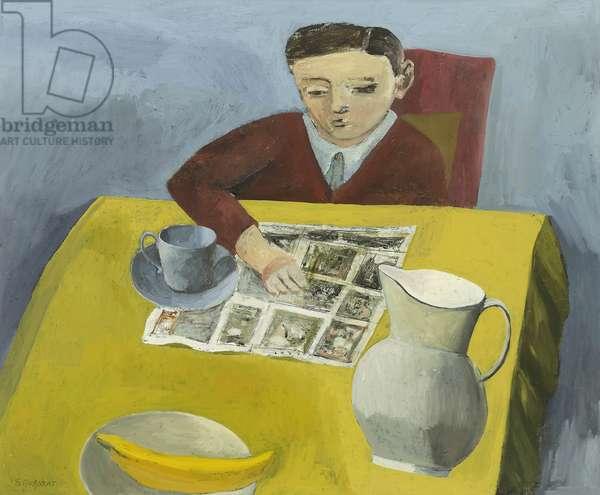 Boy Reading Comic, 2014 (oil on canvas)