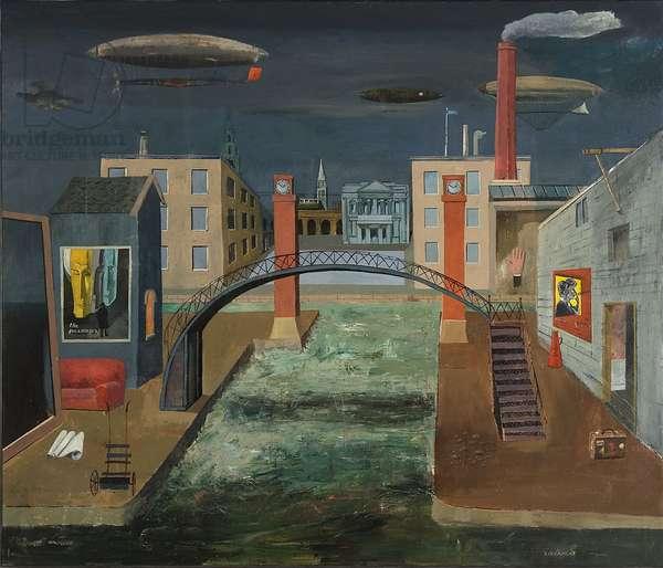 Night Flight, 2011 (oil on canvas)