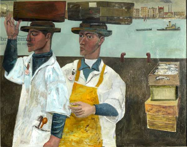 The Fish Porters, 2014 (oil on canvas)