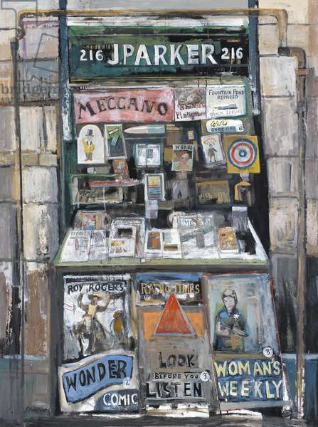 News Stand, 2002 (oil on canvas)