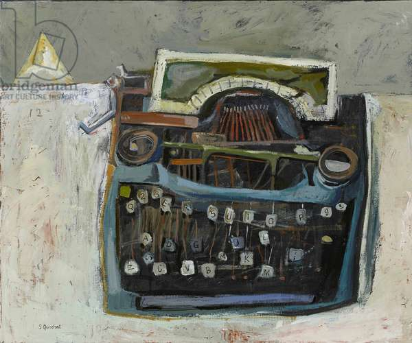 Broken Typewriter, 2016 (oil on canvas)