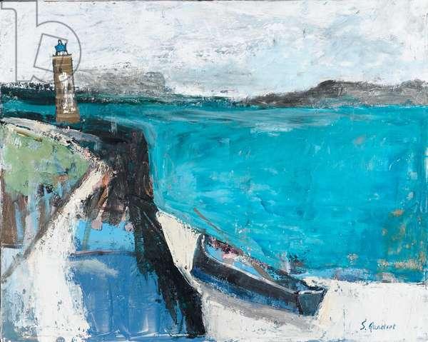Lighthouse, 2004 (oil on board)