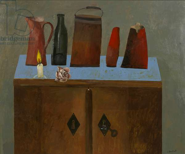 Objects on a Sideboard, 2013 (oil on canvas)