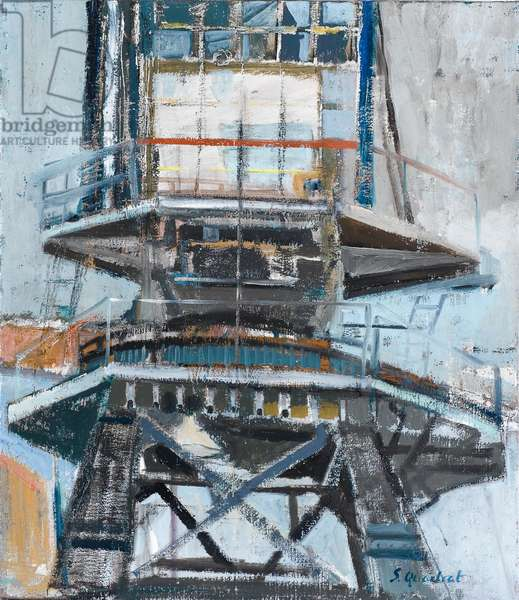 Dockside Crane, 2004 (oil on canvas)