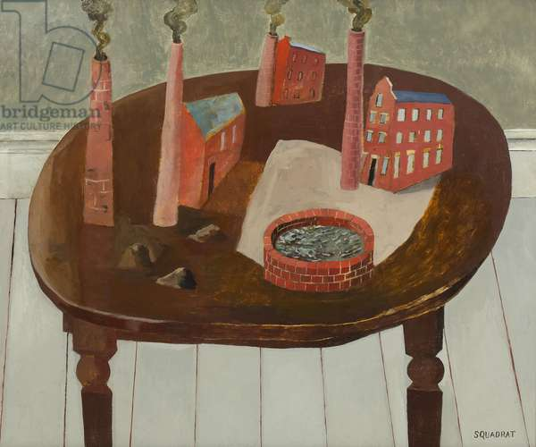 Industrial Landscape on a Table, 2005 (oil on canvas)